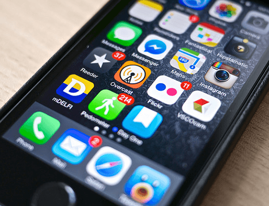 iPhone depicting apps